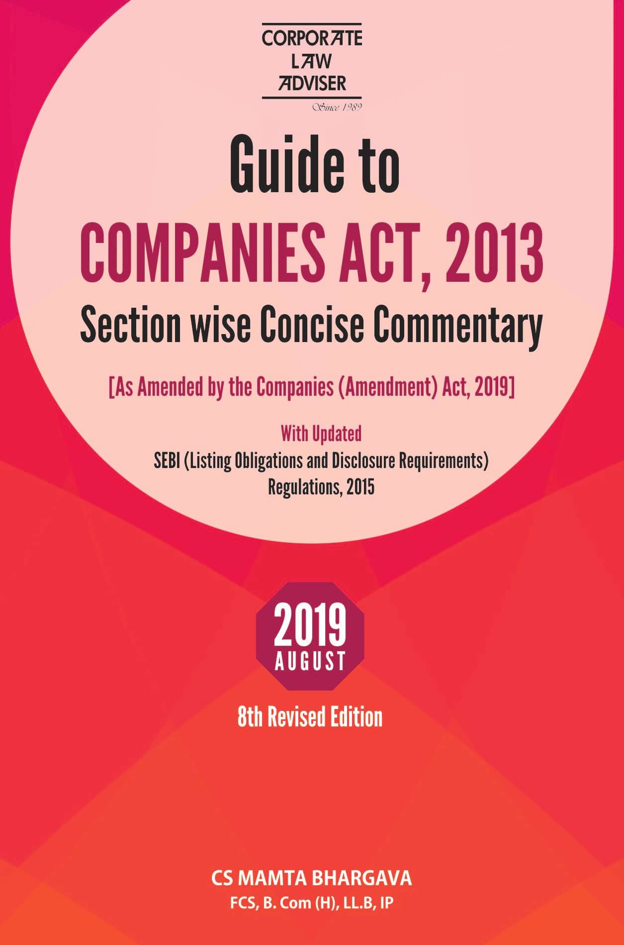 Guide to COMPANIES ACT, 2013